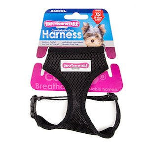 Ancol Simply Comfortable Comfort Mesh Black Dog Harness,Dog Harnesses,Ancol,Animal World UK - Animal World UK