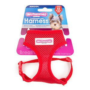 Ancol Simply Comfortable Comfort Mesh Red Dog Harness,Dog Harnesses,Ancol,Animal World UK - Animal World UK