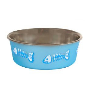 Bella Cat Bowl with Blue Fish Design,Cat Bowls,Animal Instincts,Animal World UK - Animal World UK