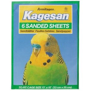 Armitage Kagesan (Green) Bird Cage Sanded Sheets 33x25cm,Bird Hygiene,Armitage,Animal World UK - Animal World UK