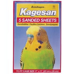 Armitage Kagesan (Red) Bird Cage Sanded Sheets 43x28cm,Bird Hygiene,Armitage,Animal World UK - Animal World UK