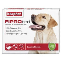 Beaphar FIPROtec Spot on Solution for Large Dogs,Dog Healthcare,Beaphar,Animal World UK - Animal World UK