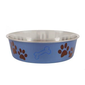 Animal Instincts Bella Dog Bowl with Bone Design 3L