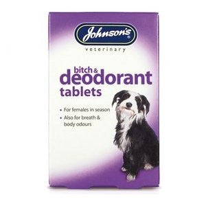 Bitch & Deodorant Tablets,Dog Healthcare,Johnsons,Animal World UK - Animal World UK