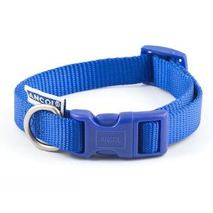 Blue Adjustable Nylon Dog Collar,Dog Collars,Ancol,Animal World UK - Animal World UK