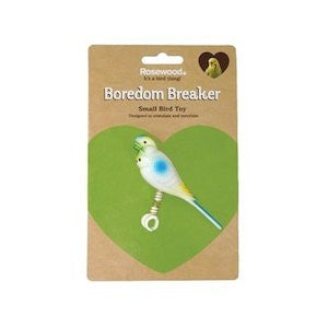 Budgie On Spring Bird Toy,Bird Toys,Rosewood,Animal World UK - Animal World UK