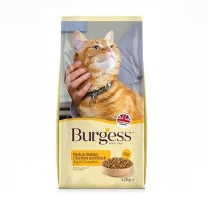 Burgess Adult Chicken & Duck Dry Cat Food,Dry Cat Food,Burgess,Animal World UK - Animal World UK