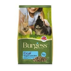 Burgess Excel Junior & Dwarf Nuggets with Mint Rabbit Food,Rabbit Food,Burgess,Animal World UK - Animal World UK