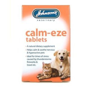 Johnsons Calm-Eze dog Tablets,Dog Healthcare,Johnsons,Animal World UK - Animal World UK
