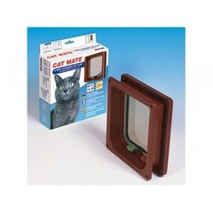 Cat Mate 4 Way Cat Flap With Liner,Cat Flaps,Rosewood,Animal World UK - Animal World UK