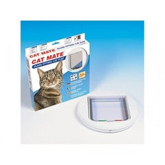 Cat Mate 4 Way Glass Fitting White Cat Flap,Cat Flaps,Rosewood,Animal World UK - Animal World UK