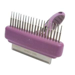 Combo Dog Comb and Moult Stoppa,Dog Grooming,Rosewood,Animal World UK - Animal World UK