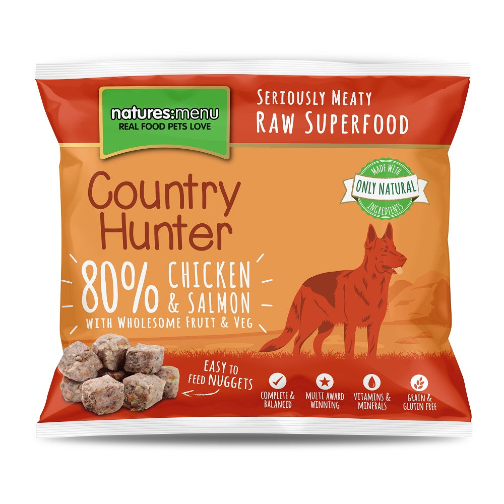 Natures Menu Frozen Country Hunter Nuggets with Chicken & Salmon