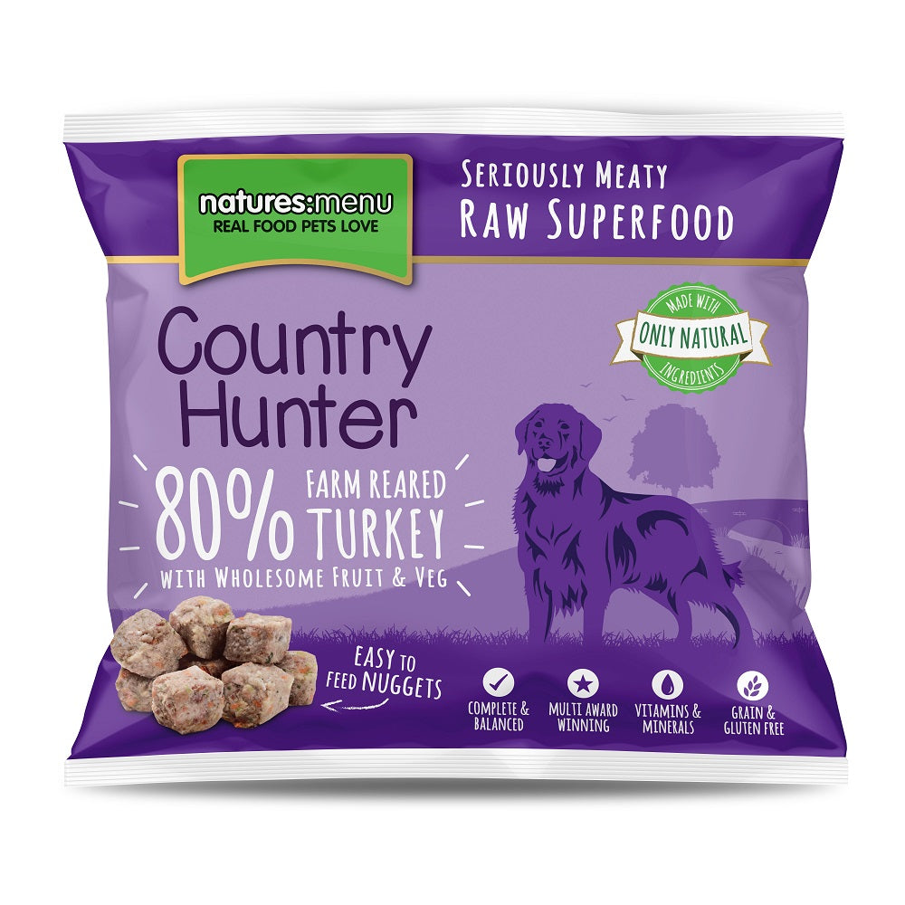 Natures Menu Frozen Country Hunter Nuggets with Turkey