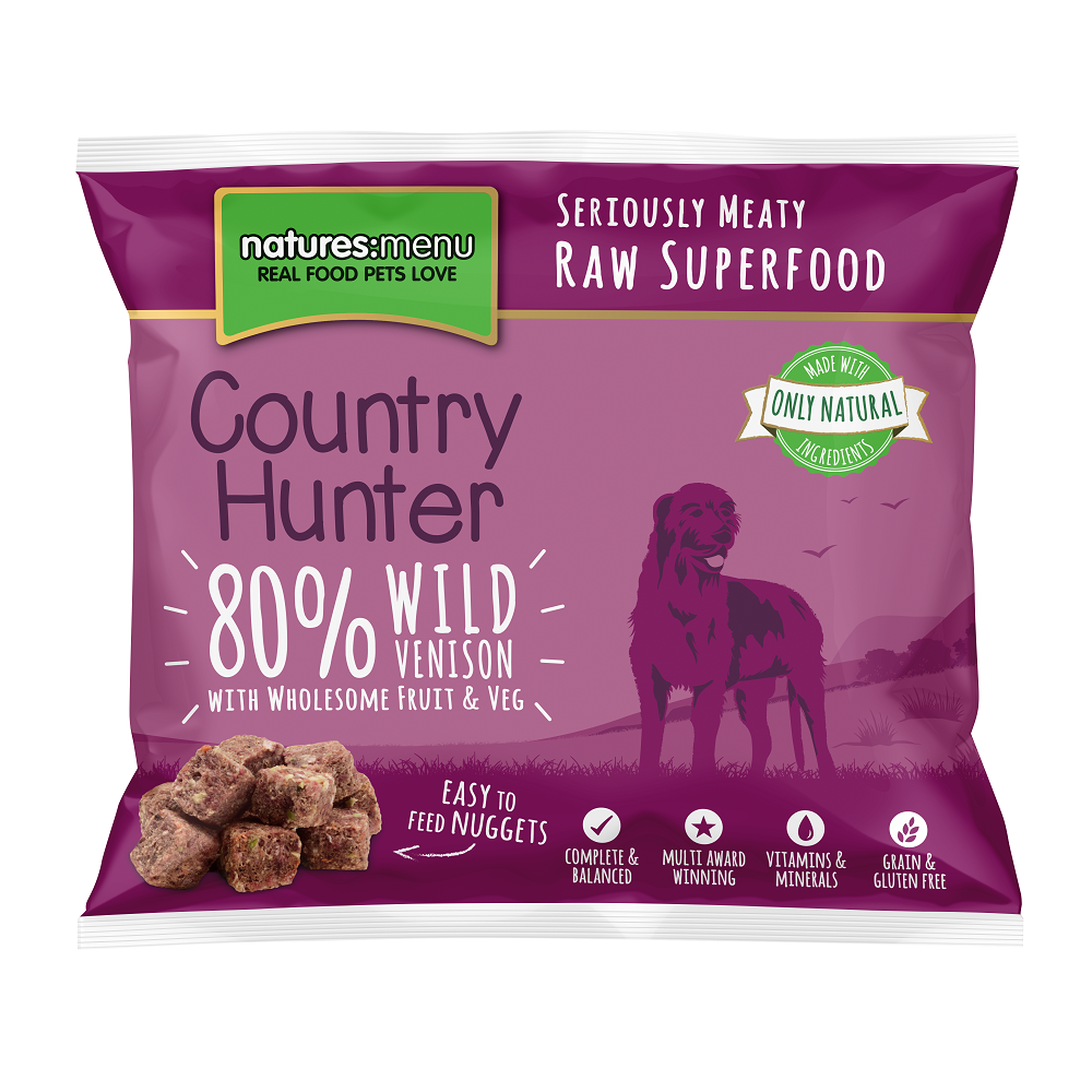 Natures Menu Frozen Country Hunter Nuggets with Wild Venison