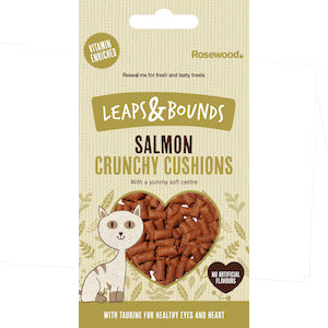 Leaps & Bounds Crunchy Salmon Cushions Cat Treats