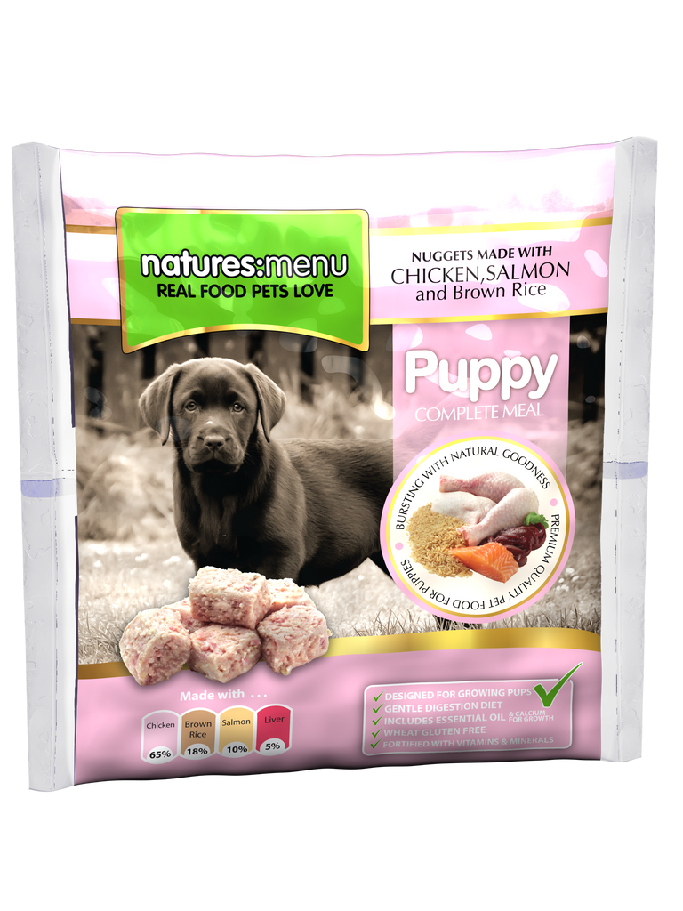 Natures Menu Frozen Puppy Nuggets With Chicken, Salmon & Brown Rice