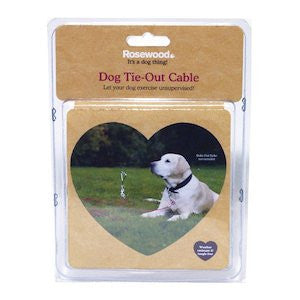 Dog Tie Out Cable,Dog Accessories,Rosewood,Animal World UK - Animal World UK