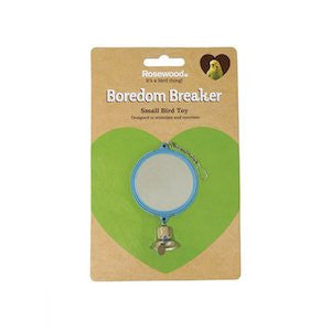 Double Mirror With Bell Bird Toy