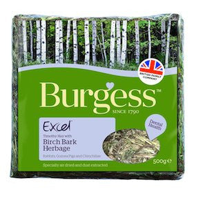 Excel Birch Bark Herbage,Small Animal Forage,Burgess,Animal World UK - Animal World UK