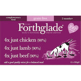 Forthglade Just Chicken, Lamb & Beef Multicase,Wet Dog Food,Forthglade,Animal World UK - Animal World UK