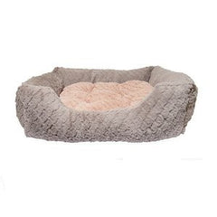 Grey & Pink Square Cat Bed,Cat Beds,Rosewood,Animal World UK - Animal World UK