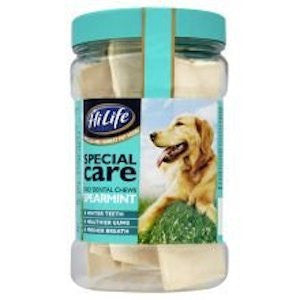 HiLife Daily Dental Chews Spearmint Tub Dog Treats,Dog Treats,HiLife,Animal World UK - Animal World UK