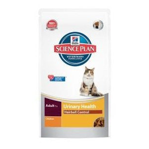 Hills Science Plan Adult 1+ Urinary Health Hairball Control Chicken Dry Cat Food,Dry Cat Food,Hills,Animal World UK - Animal World UK