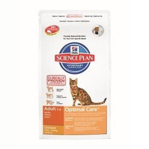 Hills Science Plan Optimal Care Adult Chicken Dry Cat Food,Dry Cat Food,Hills,Animal World UK - Animal World UK