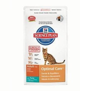 Hills Science Plan Optimal Care Adult Tuna Dry Cat Food,Dry Cat Food,Hills,Animal World UK - Animal World UK
