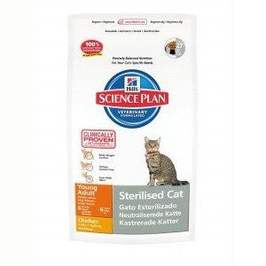 Hills Science Plan Young Adult Sterilised Chicken Dry Cat Food,Dry Cat Food,Hills,Animal World UK - Animal World UK
