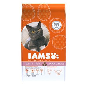 Iams Adult Salmon & Chicken Dry Cat Food,Dry Cat Food,IAMS,Animal World UK - Animal World UK