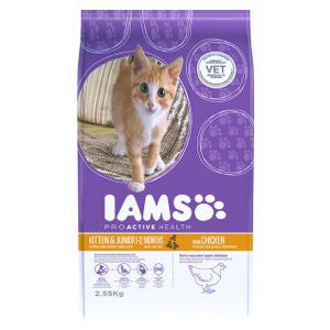 Iams Kitten & Junior Chicken Dry Cat Food