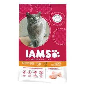 Iams Mature & Senior Chicken Dry Cat Food,Dry Cat Food,IAMS,Animal World UK - Animal World UK