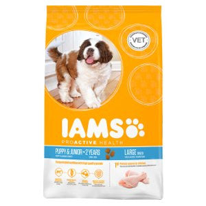 Iams Proactive Health Puppy & Junior Large Breed Chicken Dry Dog Food
