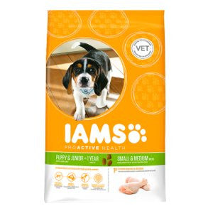 Iams Proactive Health Puppy & Junior Small/Medium Breed Chicken Dry Dog Food