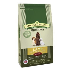 James Wellbeloved Adult Grain Free Lamb & Vegetable Dry Dog Food