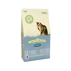James Wellbeloved Adult Hairball Turkey Dry Cat Food,Dry Cat Food,James Wellbeloved,Animal World UK - Animal World UK