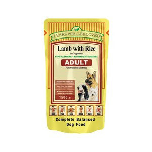 James Wellbeloved Adult Lamb with Rice & Vegetables Wet Dog Food Pouches