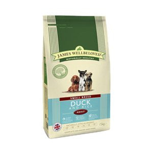 James Wellbeloved Adult Small Breed Duck & Rice Dry Dog Food