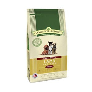 James Wellbeloved Adult Small Breed Lamb & Rice Dry Dog Food