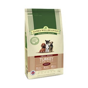 James Wellbeloved Adult Small Breed Turkey & Rice Dry Dog Food