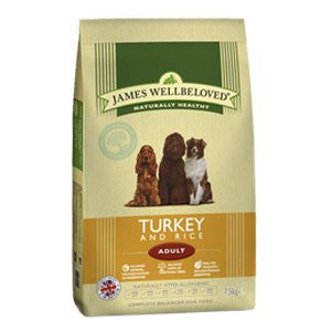 James Wellbeloved Adult Turkey & Rice Dry Dog Food,Dry Dog Food,James Wellbeloved,Animal World UK - Animal World UK