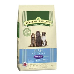 James Wellbeloved Senior Fish & Rice Dry Dog Food,Dry Dog Food,James Wellbeloved,Animal World UK - Animal World UK