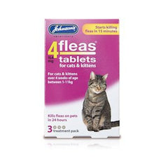 Johnsons 4fleas Kitten/Cat Tablets,Cat Healthcare,Johnsons,Animal World UK - Animal World UK
