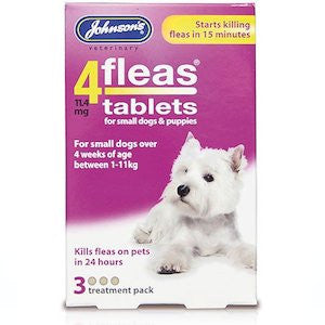 Johnsons 4fleas Small Dog Tablets,Dog Healthcare,Johnsons,Animal World UK - Animal World UK