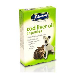 Johnsons Cod Liver Oil Capsules,Dog Healthcare,Johnsons,Animal World UK - Animal World UK