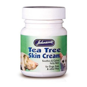 Johnsons Tea Tree Skin Cream,Cat Healthcare,Johnsons,Animal World UK - Animal World UK