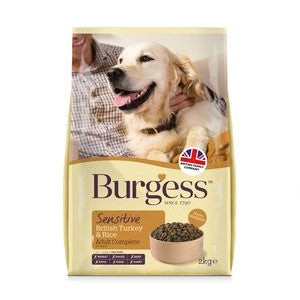 Burgess Adult Sensitive Turkey & Rice Dry Dog Food