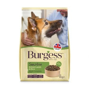 Burgess Adult Sensitive Lamb & Rice Dry Dog Food